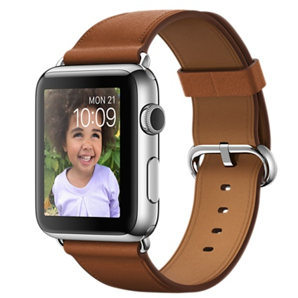 Рис. 1. Apple Watch (42mm Stainless Steel Case with Saddle Brown Classic Buckle)