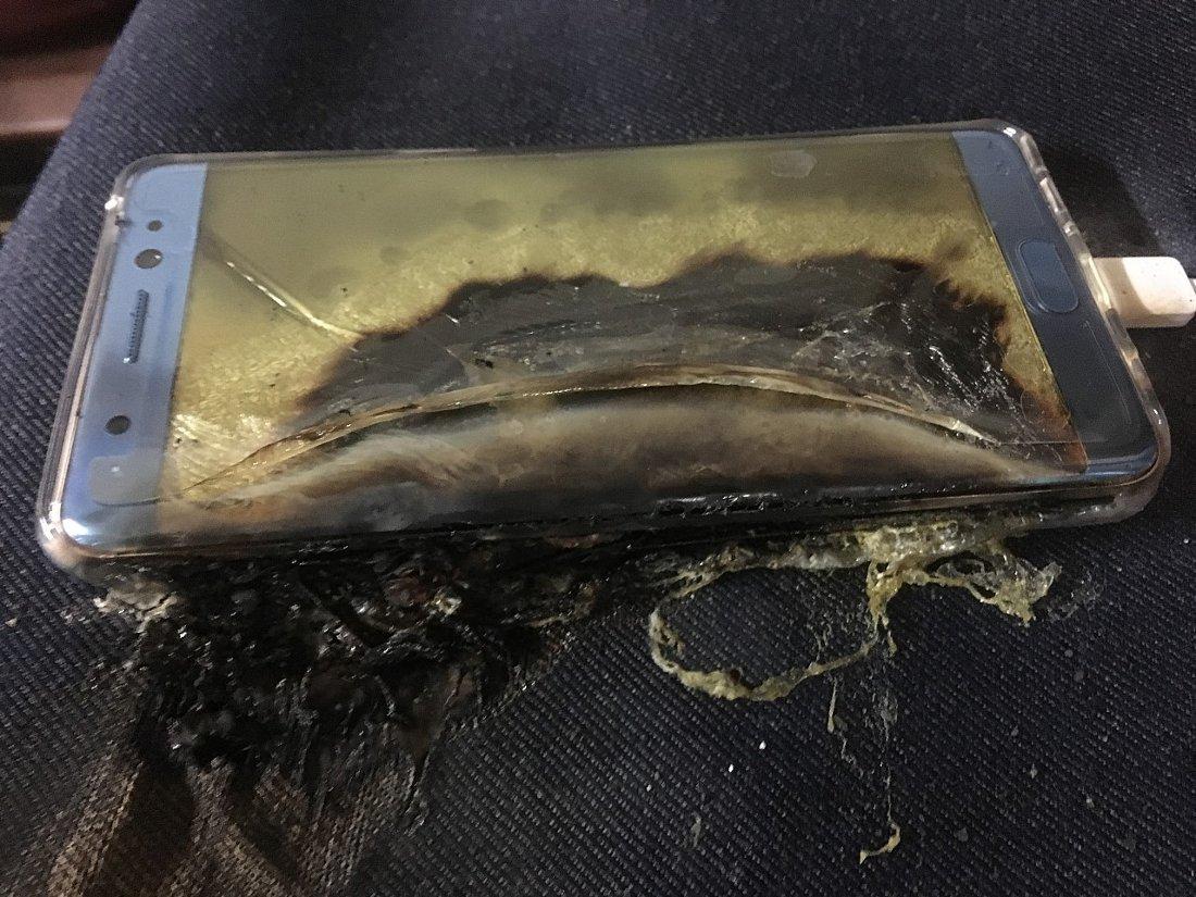 Взорвавшийся Galaxy Note 7