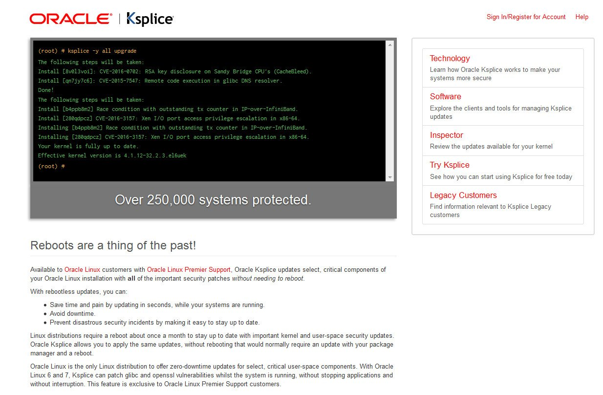 Ksplice доступен для подписчиков
