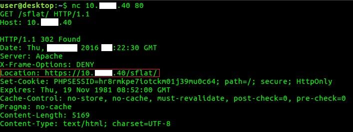 Рис. 2. Перенапpавление на HTTPS-версию сервиса