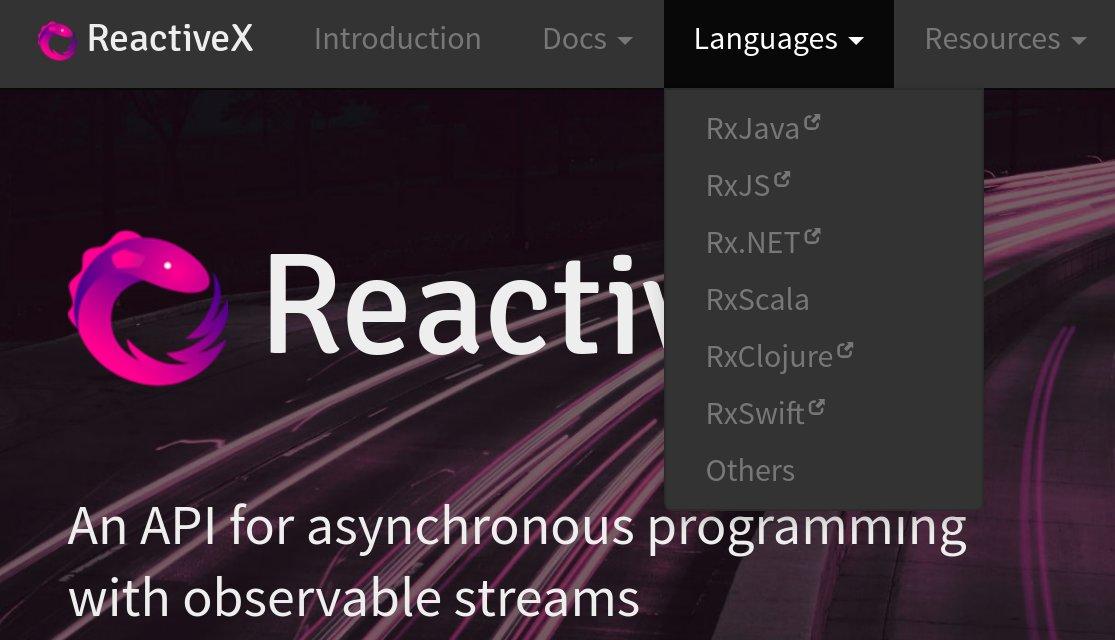 Рис. 3. Многообразие портов ReactiveX