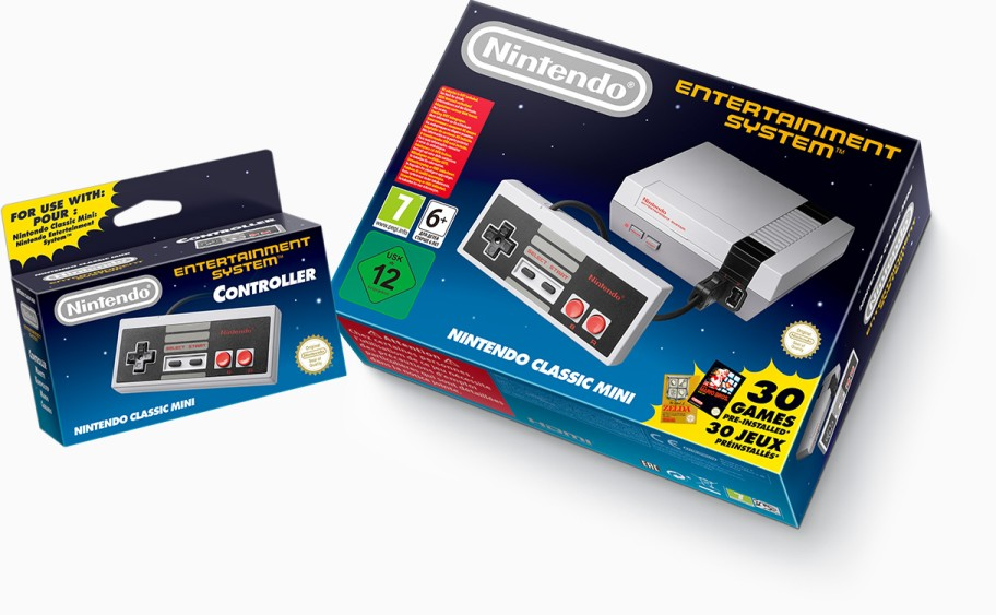 Рис. 8. Игровая приставка Nintendo Classic Mini: Nintendo Entertainment System