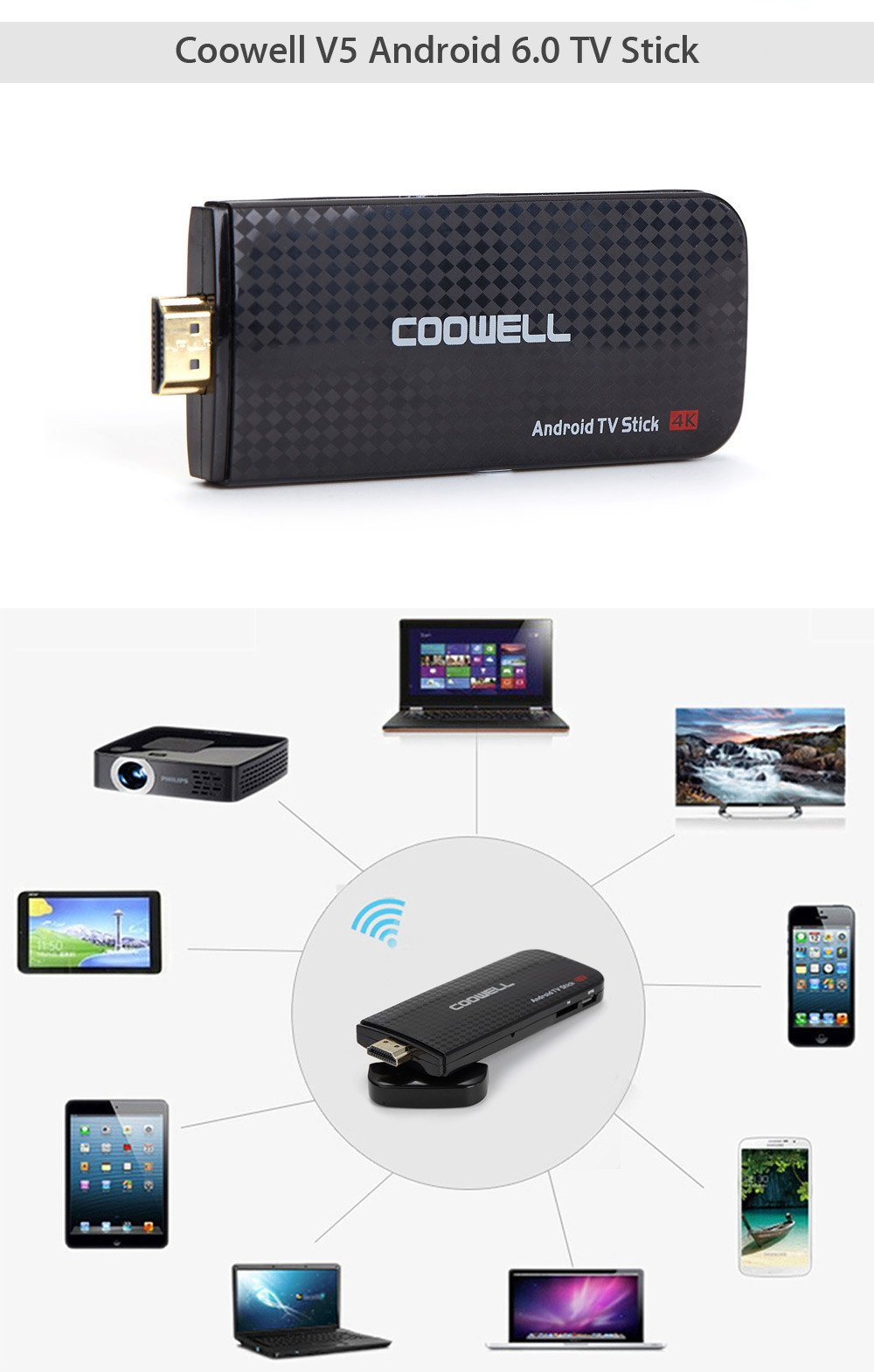 Рис. 25. Coowell V5 Android 6.0 TV Stick