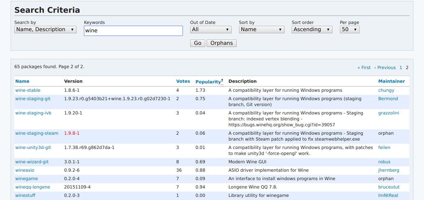 В AUR можно найти десятки вариантов одного приложения