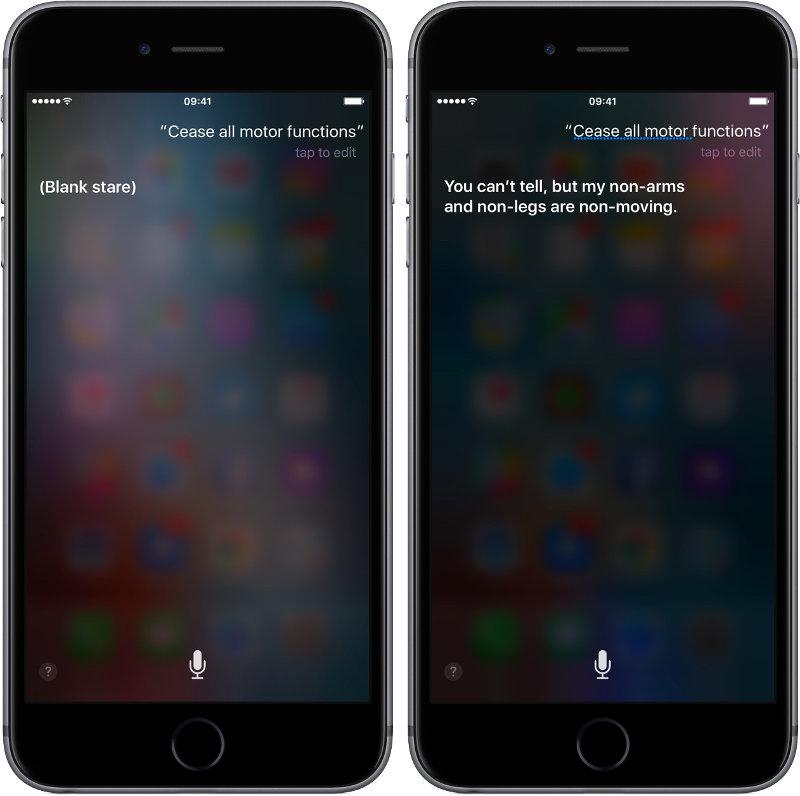 Siri, отключи все моторные функции (отсылка к сериалу Westworld)