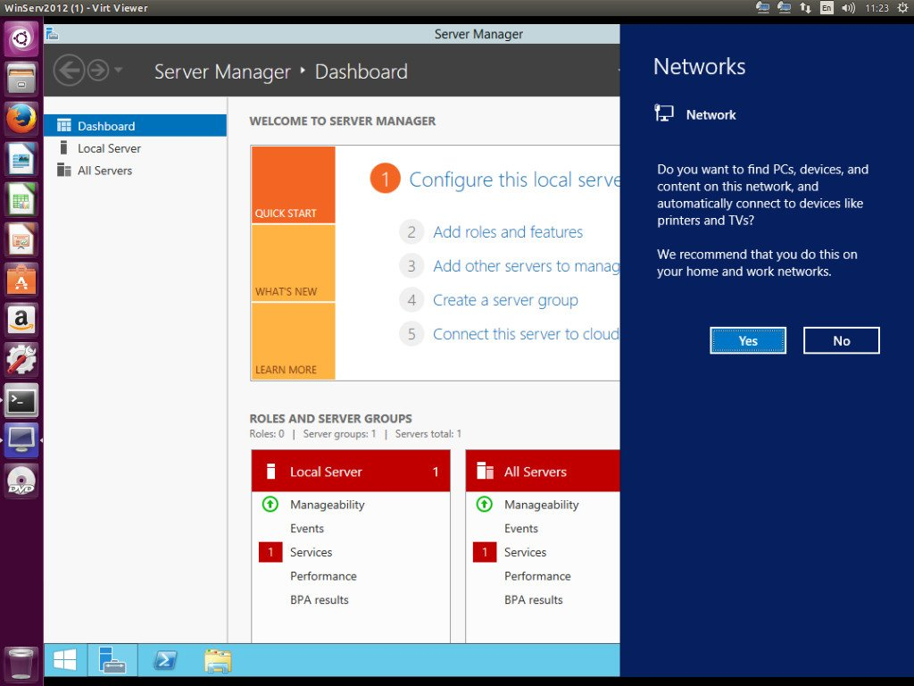 Коннектимся к Windows, запущенной под KVM