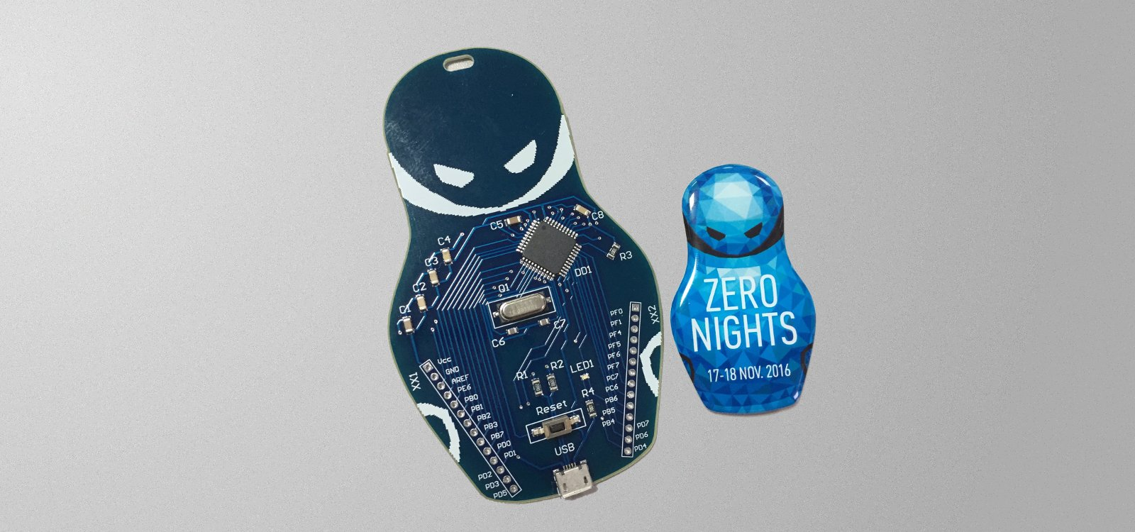 Хардварный бейджик ZeroNights 2016. Как мы делали знаменитую матрешку