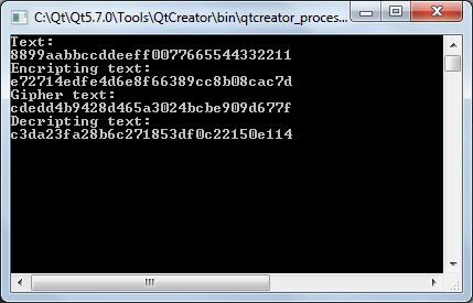 Расшифрованные и зашифрованные строки из примеров, приведенных в стандарте