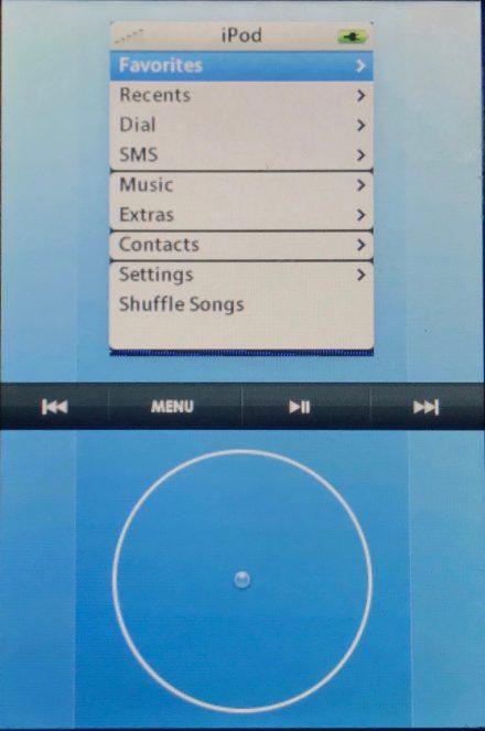 Один из ранних прототипов интерфейса iPhone. Выглядит достаточно странно, не правда ли?