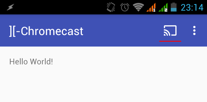 Устройство Chromecast обнаружено