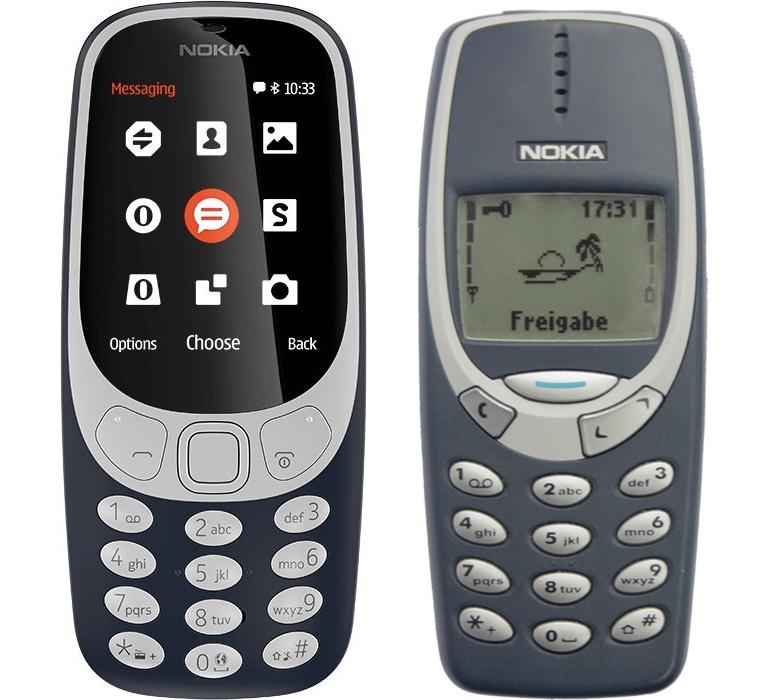 Новый Nokia 3310 рядом со старым