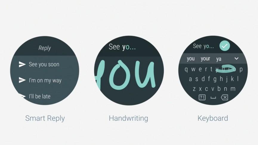 Клавиатура и рукописный ввод в Android Wear 2.0