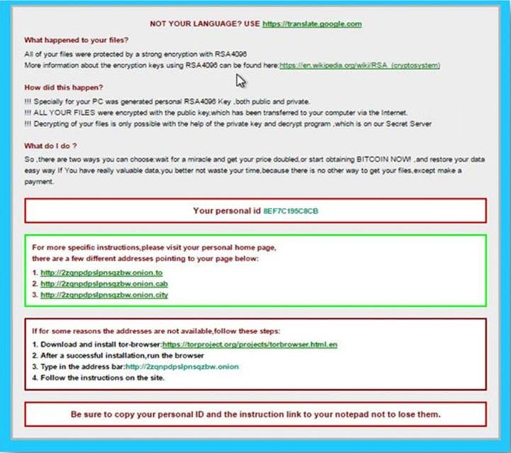 Рис. 5. HTML-сообщение CryptXXX