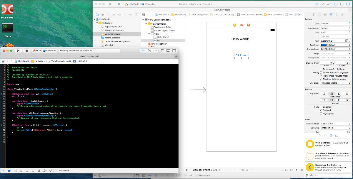 Xcode с минимальным проектом