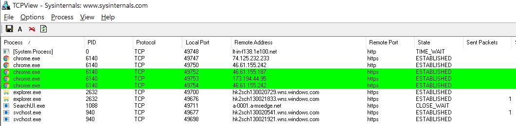 Подключения Chrome при создании новой вкладки