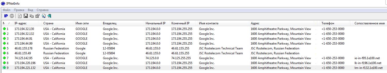 Chrome всегда соединяется с этими IP-адресами