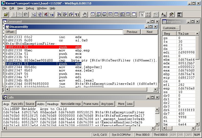 Отладчик ядра WinDbg