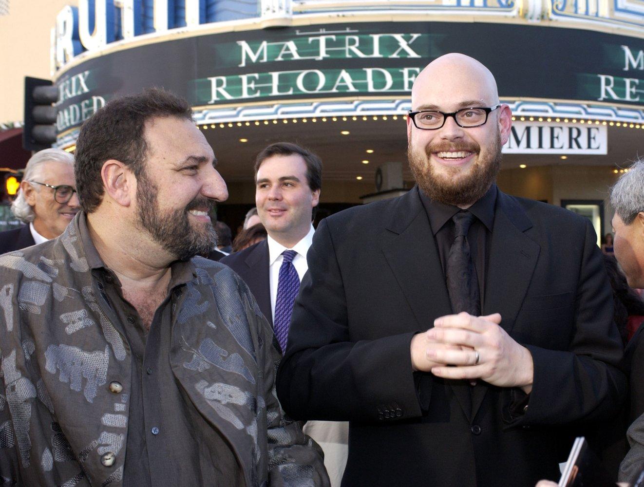 Джоэл Силвер и Энди Вачовски на премьере «Перезагрузки» (2003)