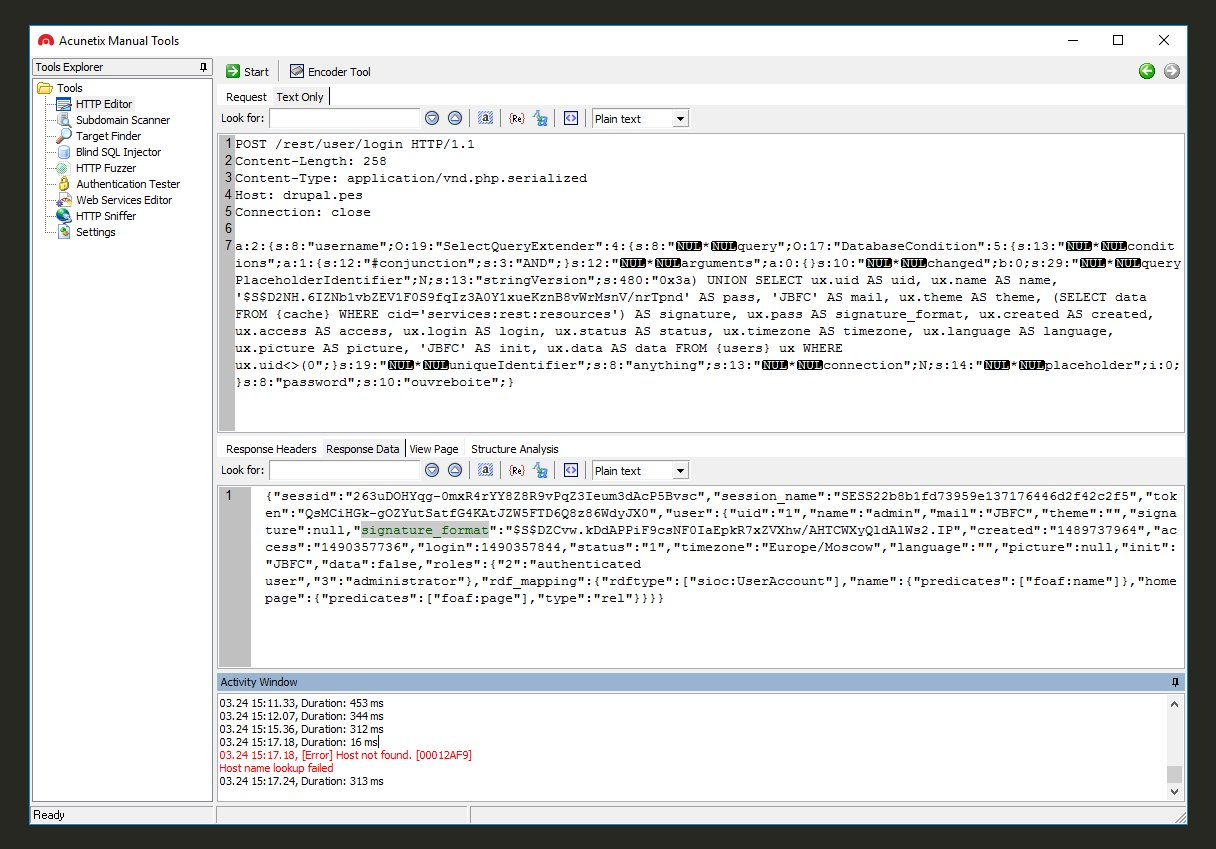 Успешная эксплуатация SQL-инъекции
