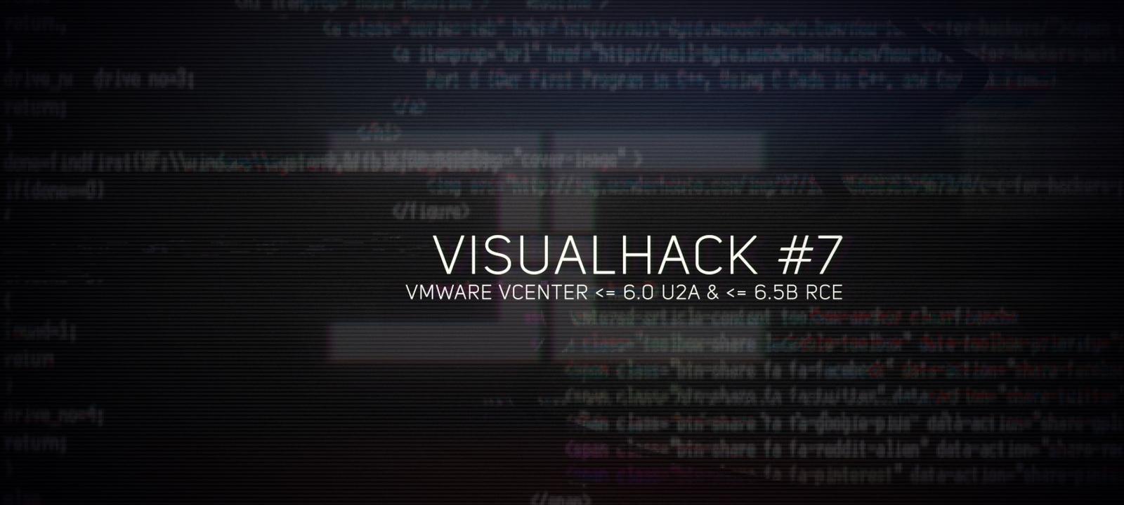 EXPLOIT: выполнение произвольного кода в VMware vCenter