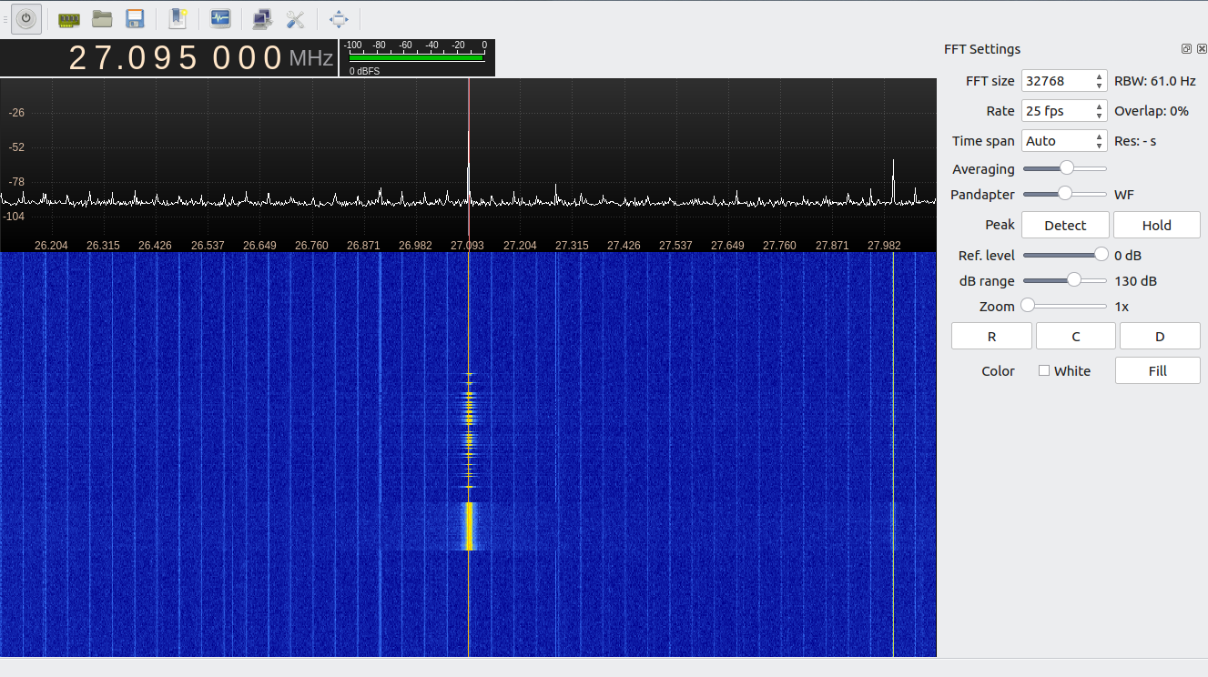 Рис. 6. Частотный спектр после установки ферритовых сердечников
