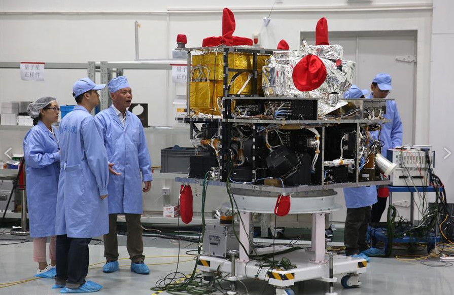 Экспериментальное оборудование спутника Micius. Фото: Xinhua