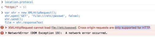 Просто так читать file:// в Safari нельзя