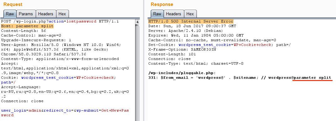 Ошибка при использовании пробела в имени домена
