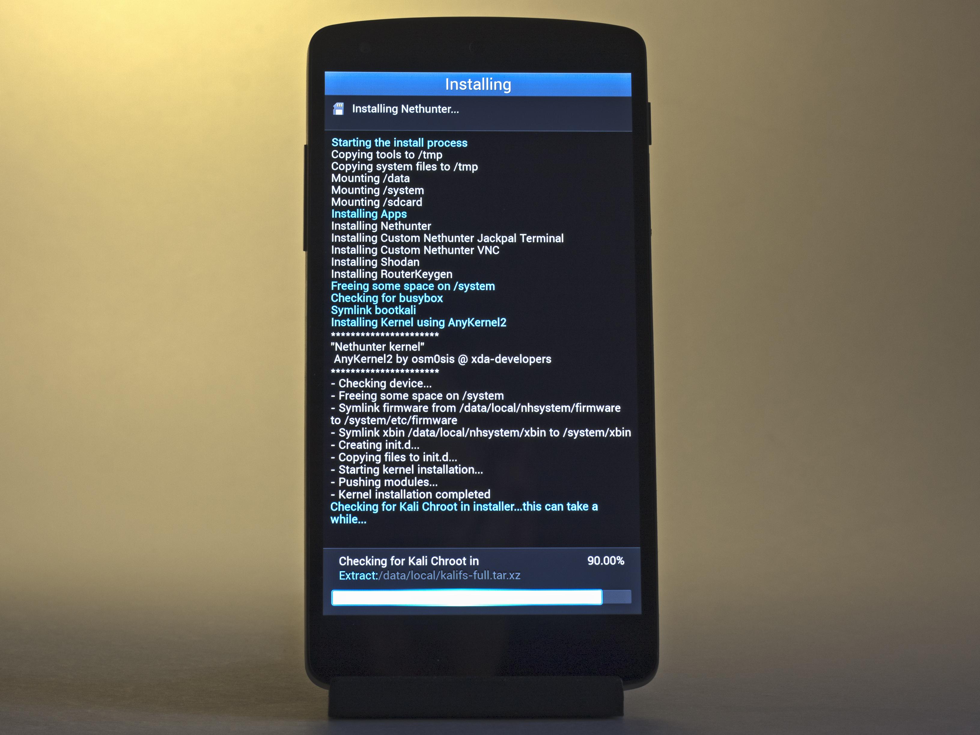 Установка NetHunter на Nexus 5