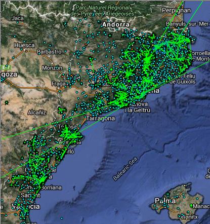 Карта guifi.net