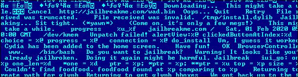 Часть кода JailbreakMe