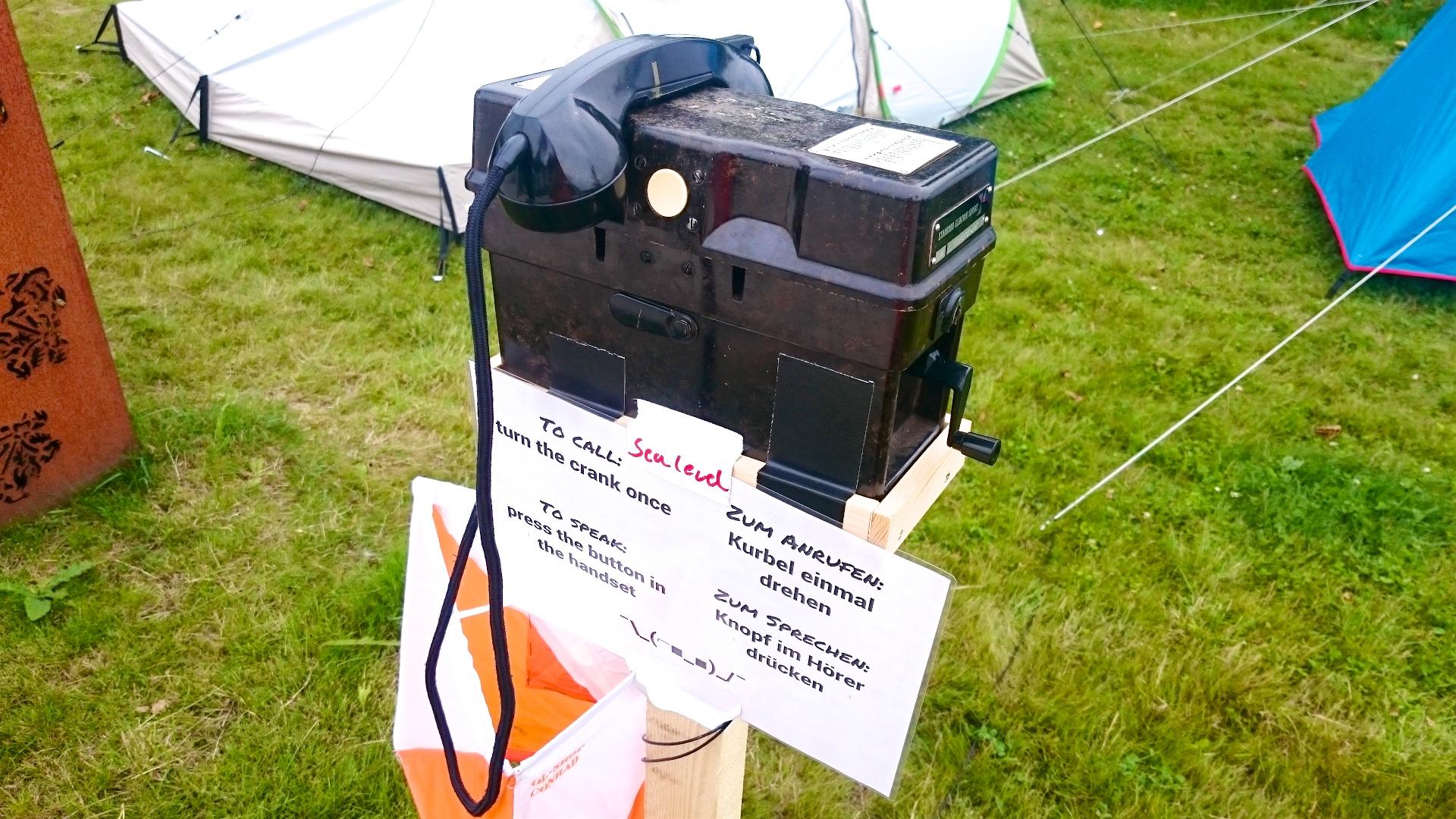 Проводной полевой телефонный аппарат