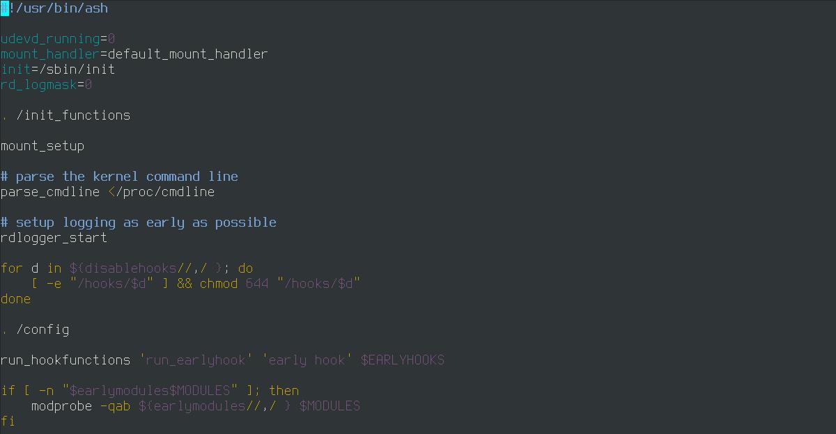 Скрипт init из initramfs