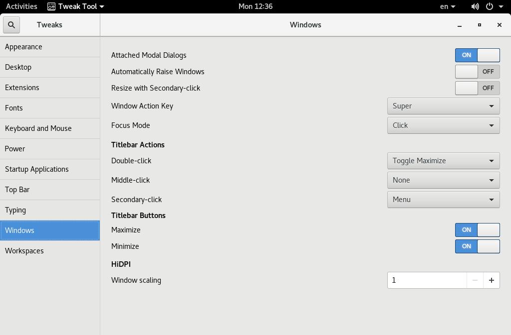 Включаем кнопки минимизации/максимизации окна в твикере