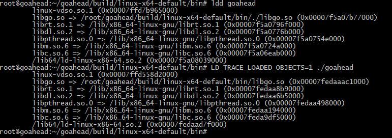 Информация о подгружаемых библиотеках при запуске веб-сервера GoAhead