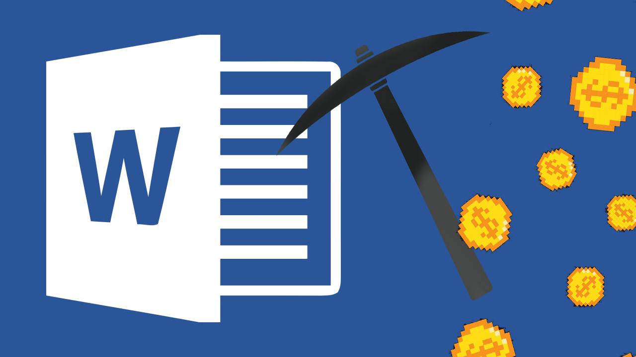 Скрипты для майнинга криптовалюты могут работать внутри документов Word