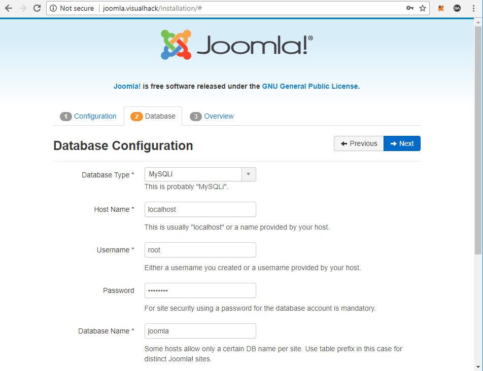 Установка Joomla 3.8.3