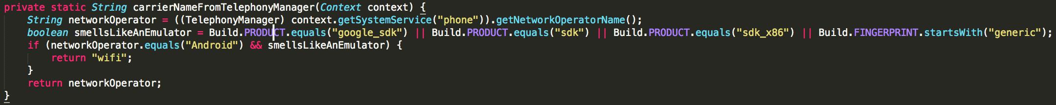 Другой пример кода