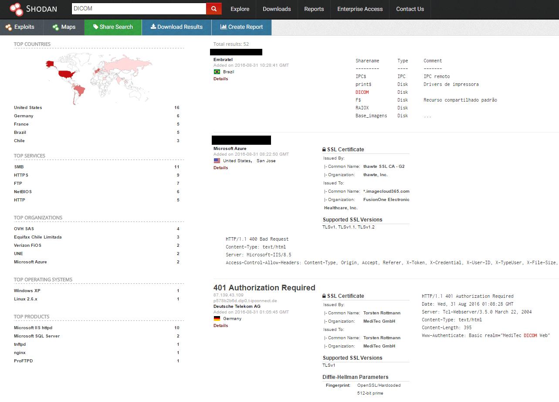 Список DICOM-серверов