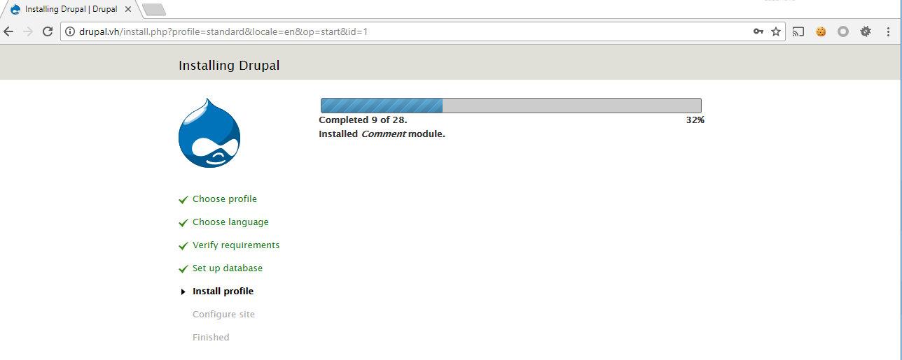 Установка Drupal 7.57