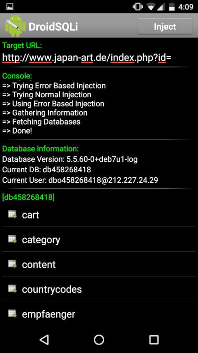 Демонстрация error based SQL-инъекции