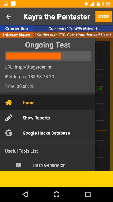 Сканирование выбранного сайта и настройки