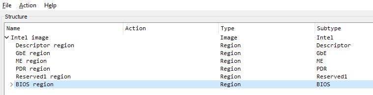 Дамп флеш-памяти SPI в UEFITool