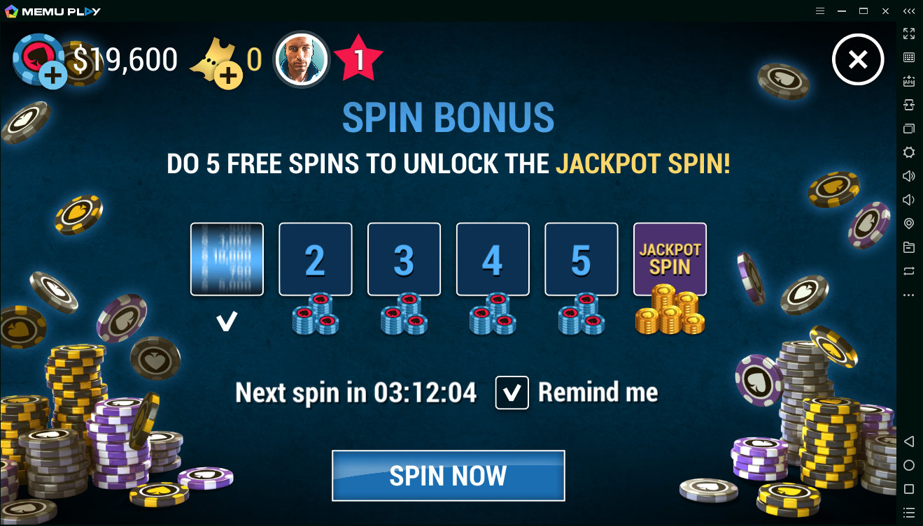Эволюция спинов в Poker World