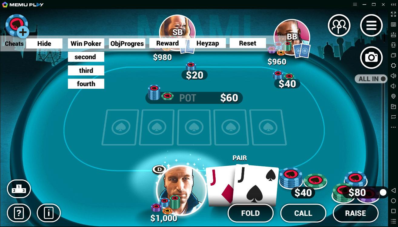 Игра за столом Poker World