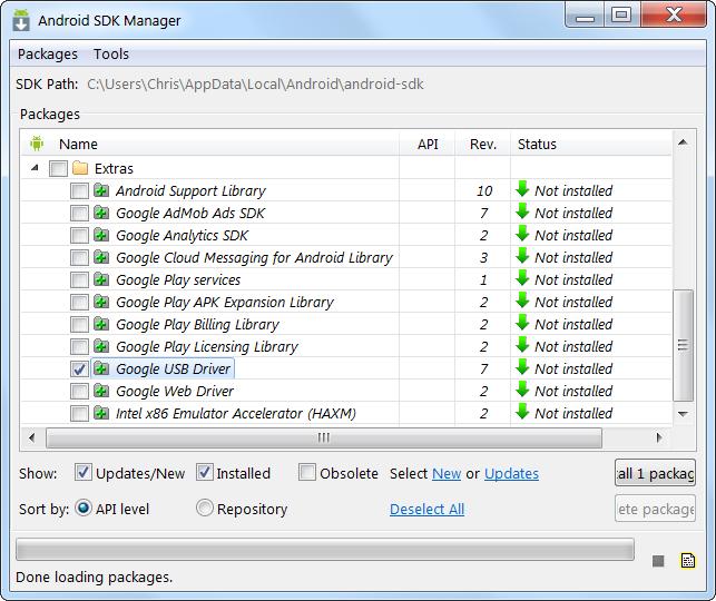 Установка Android SDK на Windows 10