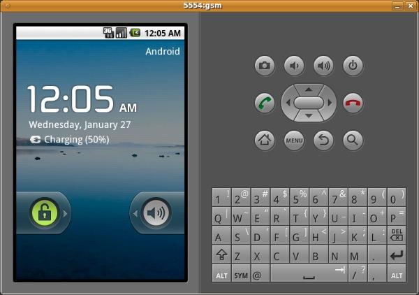 Запущенный в эмуляторе AVD образ системы Nexus 5