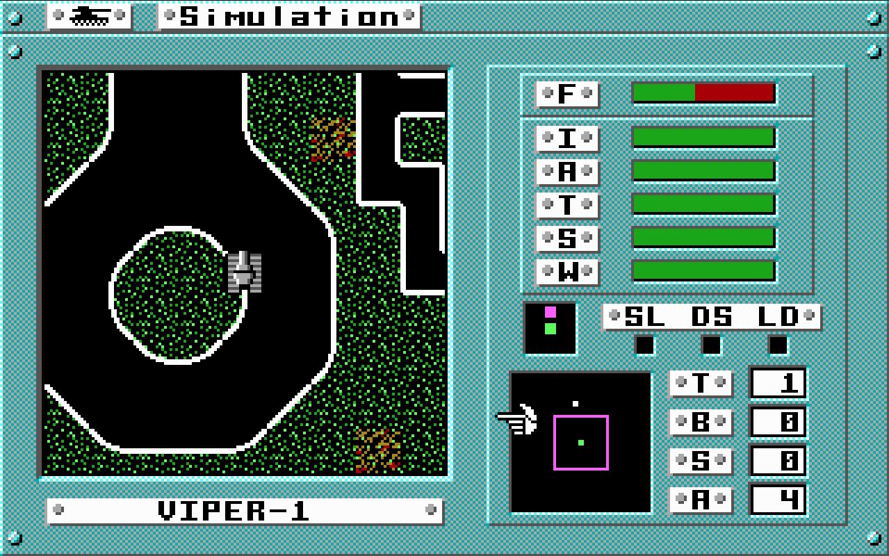 Скриншот Omega (версия для DOS)